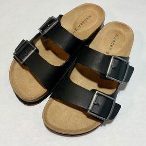 Madden Girl Black Slide Sandals
